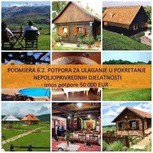 Podmjera 6.2. Potpora ulaganju u pokretanje nepoljoprivrednih djelatnosti u ruralnom području